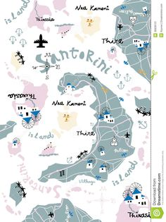 Santorini Map - Download From Over 41 Million High Quality Stock Photos, Images, Vectors. Sign up for FREE today. Image: 36838131