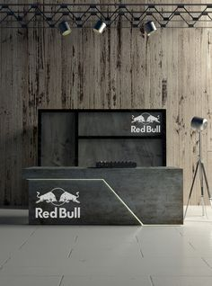 Red Bull Dj stand, project for music clubs by Horeca Group