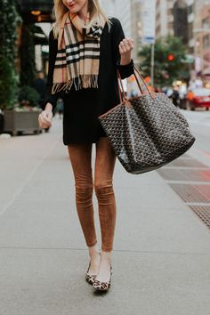 5876408484 Hello from New York - David Lerner Suede Leggings Outfit