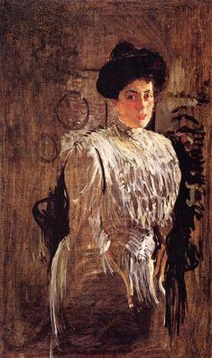 The Athenaeum - Portrait of Margarita Morozova (Valentin Serov - )