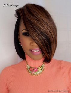 African-American Side-Parted Bob bob hairstyles african american weave 60 Showiest Bob Haircuts for Black Women bob hairstyles african american weave Black Haircut Styles, Short Hair Styles, Black Bob Hairstyles, Bob Haircuts, Hairstyles Haircuts, Weave Hairstyles, Trending Hairstyles, Straight Haircuts, Scene Hairstyles