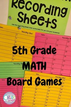 These board games are perfect for grade math centers. Use the activities in your upper elementary classroom to engage your grade students! Teaching 5th Grade, 5th Grade Classroom, 5th Grade Math, Teaching Math, Teaching Resources, Teaching Reading, Teaching Ideas, Maths, Elementary Science