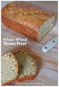 365 Days of Slow Cooking: Day 11: Whole Wheat Banana Bread