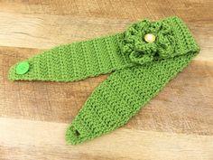A personal favorite from my Etsy shop https://www.etsy.com/listing/496746594/crochet-headband-ear-warmer-flower-green