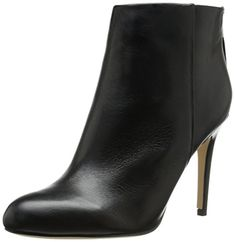 Sam Edelman Women's Kourtney Boot, Black Leather, 10 M US. Round-toe suede bootie with high heel wrapped in animal pattern-textured leather featuring zip closure at heel counter. Suede Booties, Ankle Booties, Bootie Boots, Sam Edelman Boots, Edelman Shoes, Thing 1, Cool Boots, Black Leather Boots, Fashion Boots
