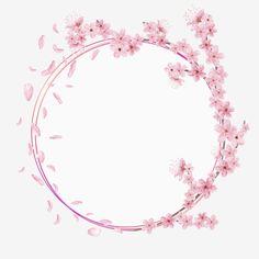 Monogram Watercolor Cherry Blossom For Wedding Invitation Save The Date Birthday Elegant Sakura Frame Vector and PNG