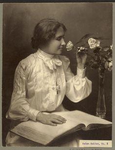 Helen Keller with Braille Book ~ 1904 ~ Whitman Studio, Photographer