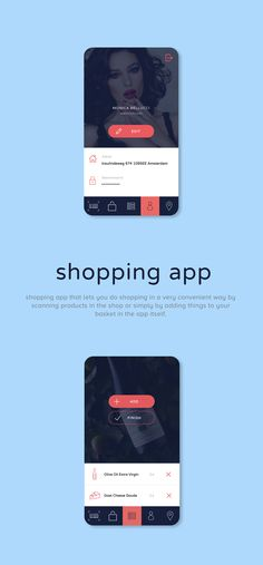 Shopping app for iOS on Behance
