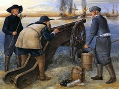 Battle at the Vistula mouth, 1628 • Gunner • King Gustavus Adolphus • Artillery driver