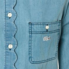Chemise Lacoste Live en jean: details