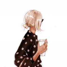 Luxury lingerie brand from Ukraine от FreeLoveLingerie на Etsy - Fashion inspiration - Fashion Art, Foto Fashion, Dior Fashion, Chica Cool, Megan Hess, Art And Illustration, Illustrations, Fashion Illustration Hair, Fashion Design Sketches
