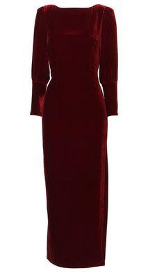 Biba At House Of Fraser Velvet Maxi Dress... LIKE!