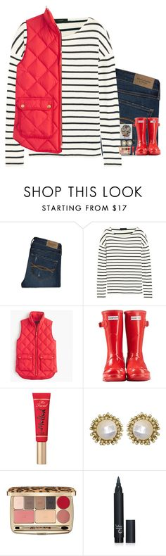"""Comparison Is The Thief Of Joy // Evelyn"" by sixpreppychicks ❤ liked on Polyvore featuring Abercrombie & Fitch, J.Crew, Hunter, Too Faced Cosmetics, Kendra Scott, Dolce&Gabbana, women's clothing, women, female and woman"