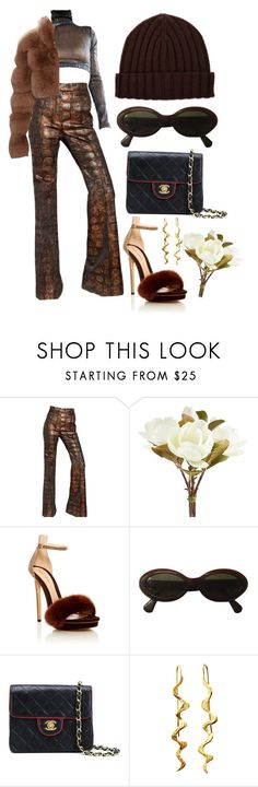 """""""Sem título #283"""" by gothic-girly ❤ liked on Polyvore featuring Rochas, Pier 1 Imports, Monique Lhuillier, Moschino and Chanel"""