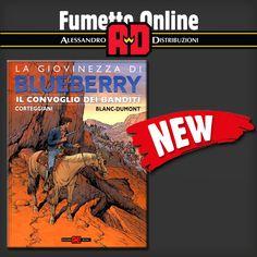 """! LIBRO DEL MESE ! Questo libro, lungamente atteso, è la novità della serie """"La Giovinezza"""" e uscirà in contemporanea in Francia e in Italia.  Link all'acquisto: http://www.fumetto-online.it/it/alessandro-editore-blueberry-giovinezza-15-il-convoglio-dei-banditi-c45395000150.php"""