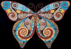 mosaic butterfly by Irina Charny