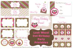 Free printables!  I just found Abigail theme for her birthday!  Now I have two weeks to run with it!  I am so excited!