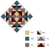 """Free Quilt Block Patterns, M through S: Queen Charlotte's Crown Variation - 12"""""""