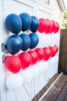 Patriotic Balloon Flag for of July or Memorial DayYou can find Memorial day and more on our website.Patriotic Balloon Flag for of July or Memorial Day Fourth Of July Decor, 4th Of July Celebration, 4th Of July Party, July 4th, 4th Of July Games, 4th Of July Ideas, Usa Party, Memorial Day Decorations, 4th Of July Decorations