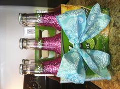 21st birthday must! Glittered six pack-omg I want this!!!!!!!!!!!!!!!!!!!!!!!!!!!!