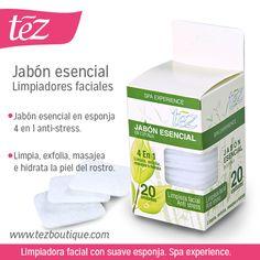 Jabón esencial en esponja http://www.tezboutique.com/cuidado-facial/jabon-esencial-en-esponja-x-20/