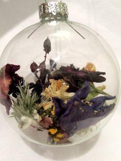 Real Flower Christmas Ornaments - Natural BOHO Christmas - Botanical Christmas Ornaments - Natural Ornaments - Rustic Christmas Ornament
