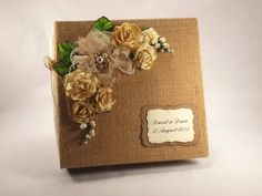 Custom Wedding Album, Rustic Country Wedding Photo Album,  Farm Wedding Scrapbook on Etsy, $50.00