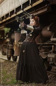 This makes me think of a steampunk Amy Pond