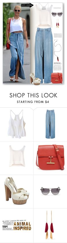 """""""Off Duty Model"""" by fassionista ❤ liked on Polyvore featuring BLACK CRANE, 7 For All Mankind, MINKPINK, Tom Ford, Brian Atwood, Alexander McQueen, Isabel Marant, Hot Topic and offbutymodel"""