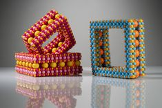 Suzanne Golden, Square Bracelets, right angle weave, acrylic beads