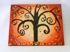 Your place to buy and sell all things handmade Cool Paintings, Cool Diy, Autumn Leaves, Fall Decor, Project Ideas, Projects, Canvas Art, Unique Jewelry, Handmade Gifts