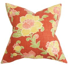 Duscha Floral Throw Pillow