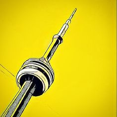Playing with prisma in advance of the show. This is one of my most popular Toronto pieces, but I have to decide if it'll appear on my table in the mustard yellow you see here! Toronto Photography, Toronto Life, Toronto Canada, Cn Tower, Door Handles, Mustard Yellow, Drake, Instagram Posts, Filter