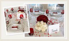 Matrimonio a San Valentino - Addobbi Rose Rosse - La Floreale Roma www.laflorealedistefania.it