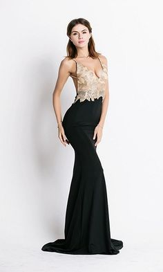 Legendary Lover Black Nude Gold Spaghetti Strap Sequin V Neck Backless Ruched Maxi Dress