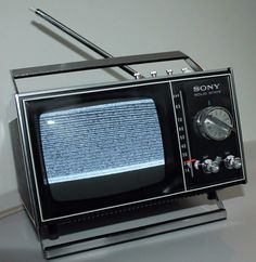 "Vintage Sony Transistor Solid State 5"" Portable Television Model TV-500U w/ Box 