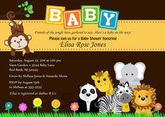 Bebé ducha invitación Safari Animal selva Baby por theprintfairy