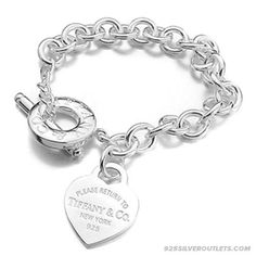 Tiffany Jewelry Bracelets Transparent Silver Cubic $111.73