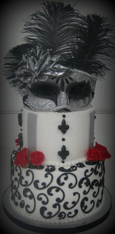 ' 18th Birthday Cake Designs, Birthday Cakes, Birthday Ideas, Cupcake Cakes, Cupcakes, Masquerade Party, Fondant, Carnival, Cooking Recipes