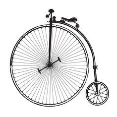 Free vintage clip art images: Vintage old fashioned bicycle clip art
