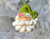 Handcrafted Polymer Clay Santa Claus Christmas Ornament