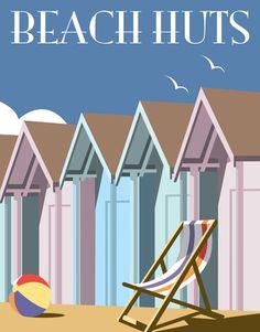 'Beach Huts'- Signed open edition print, 400 x 500 mm  https://www.castorandpollux.co.uk/beach-huts-signed-open-edition-giclee-print-400-x-500-mm-mounted-on-card/dp/9127
