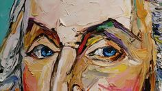 Close up of his eyes - George Washington #president #beckyfos #portrait #art #oilpainting