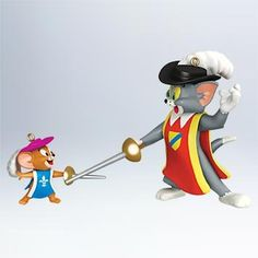 2 Mousketeers Tom  Jerry 2011 Hallmark Ornament  QXI2857 * Click image to review more details.
