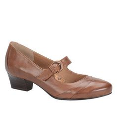 Loving this Cymbal Tan Reid Leather Mary Jane on #zulily! #zulilyfinds