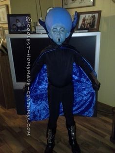 Coolest Homemade Mega Mind Costume ... Great instructions too! Original Halloween Costumes, Diy Halloween Costumes For Kids, Halloween Costume Contest, Halloween Crafts, Alien Halloween, Halloween 2017, Halloween Party, Super Hero Costumes, Cool Costumes