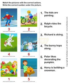 ... Verbs Worksheets 15 - esl-efl Worksheets - kindergarten Worksheets