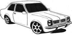 O Chevette, um carro clássico da Chevrolet, é um modelo muito utilizado no tunning.