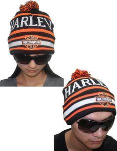 1a179c8497e Amazon.com  Harley Davidson Motorcycles Unisex Bar   Shield Knit Hat with  Pom Pom Ball one size Black  Clothing