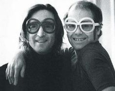 John lennon and Elton John <3 #JohnLennon #TheBeatles #Beatles